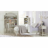 Inspirations by Wendy Bellissimo Avalon Platform Twin Bed in Morning Mist