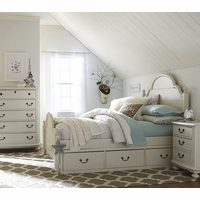 Inspirations by Wendy Bellissimo Westport Low Poster Full Bed in Morning Mist