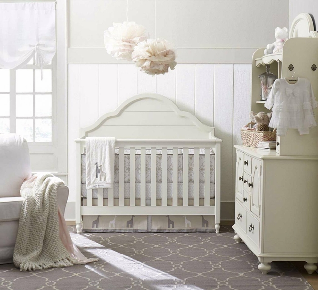 Inspirations Cottage Morning Mist Convertible Crib