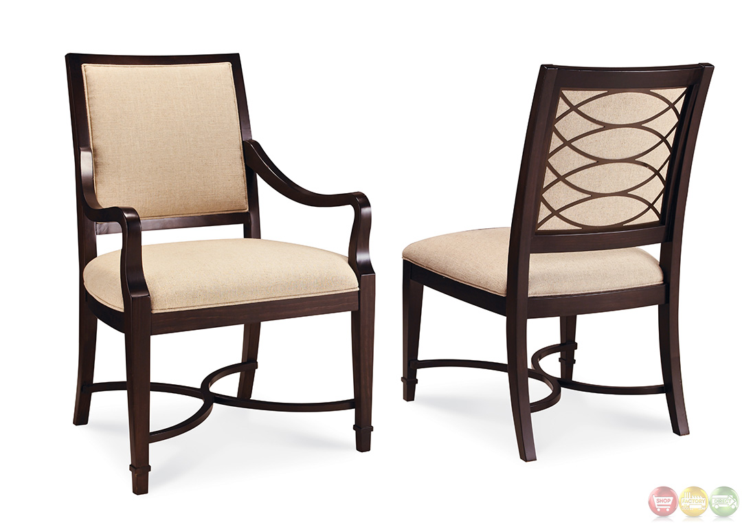 Intrique upholstered chair formal dining furniture set for Formal dining chairs