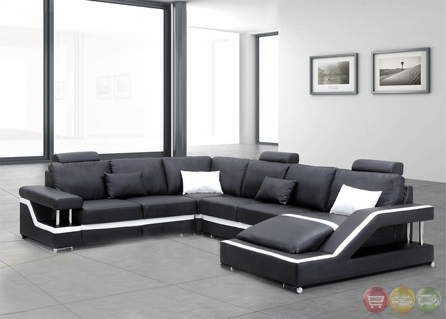 Incroyable Irma Ultra Modern Medium Wood Sectional Sofa Set With Sinious Spring Base