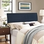 Isabella Contemporary Fabric Upholstered Queen Headboard, Navy
