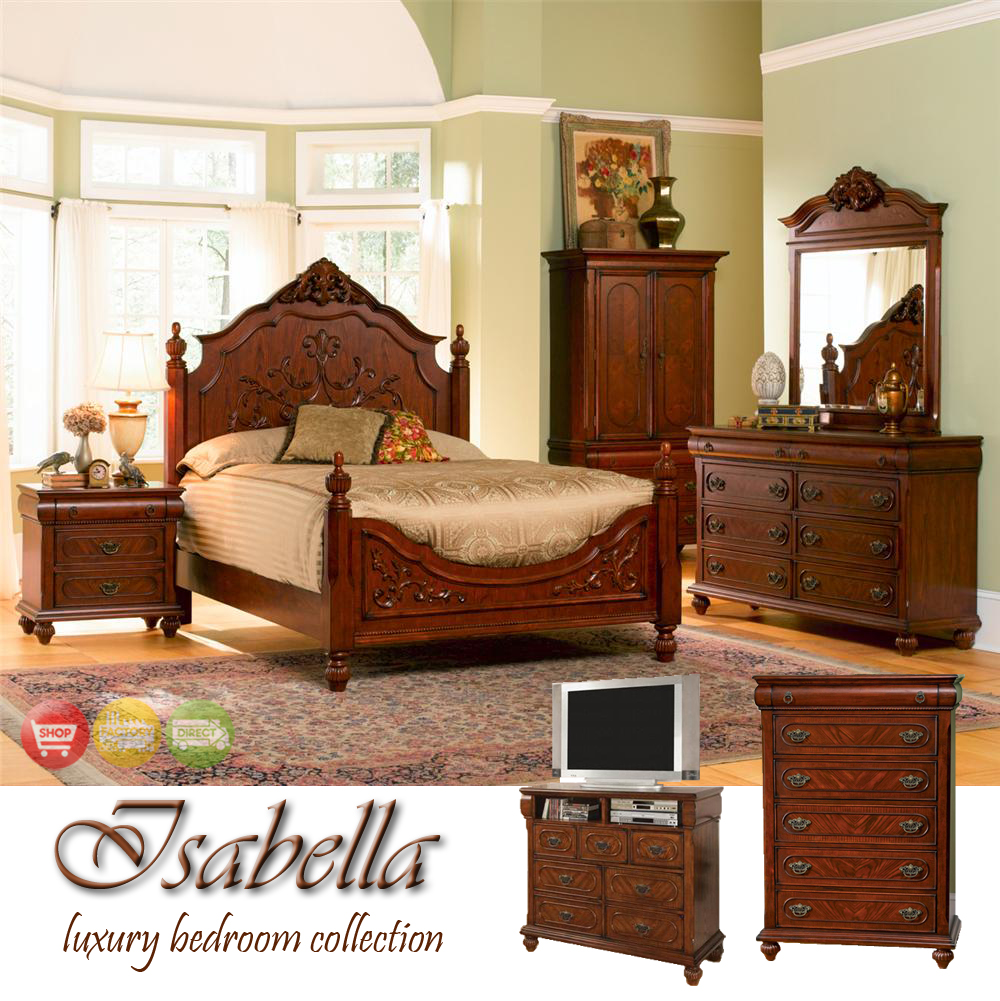 isabella traditional medium finish bedroom furniture set coaster 200511. Black Bedroom Furniture Sets. Home Design Ideas