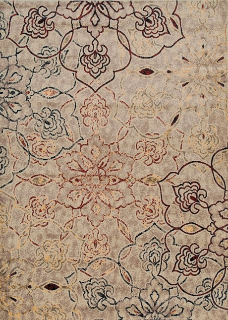 Rizzy Rugs Ivory Transitional Power Loomed Area Rug Bayside BS3644