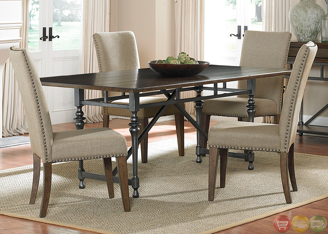 Ivy park modern farmhouse casual dining room set for Casual dining room sets