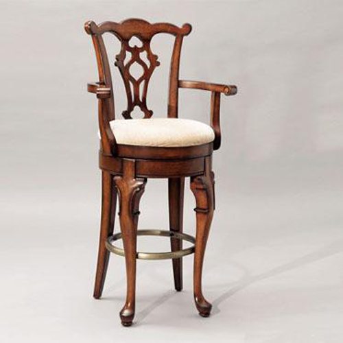 Jamestown Landing Queen Anne Style Swivel Arm Stool Powell