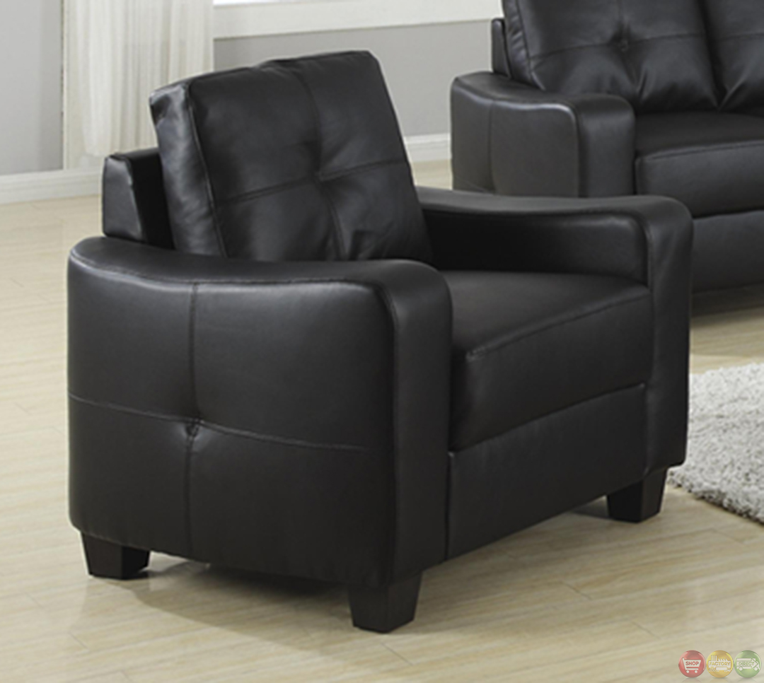 Leather Sofa Price: Jasmine Contemporary Black Bonded Leather Sofa And