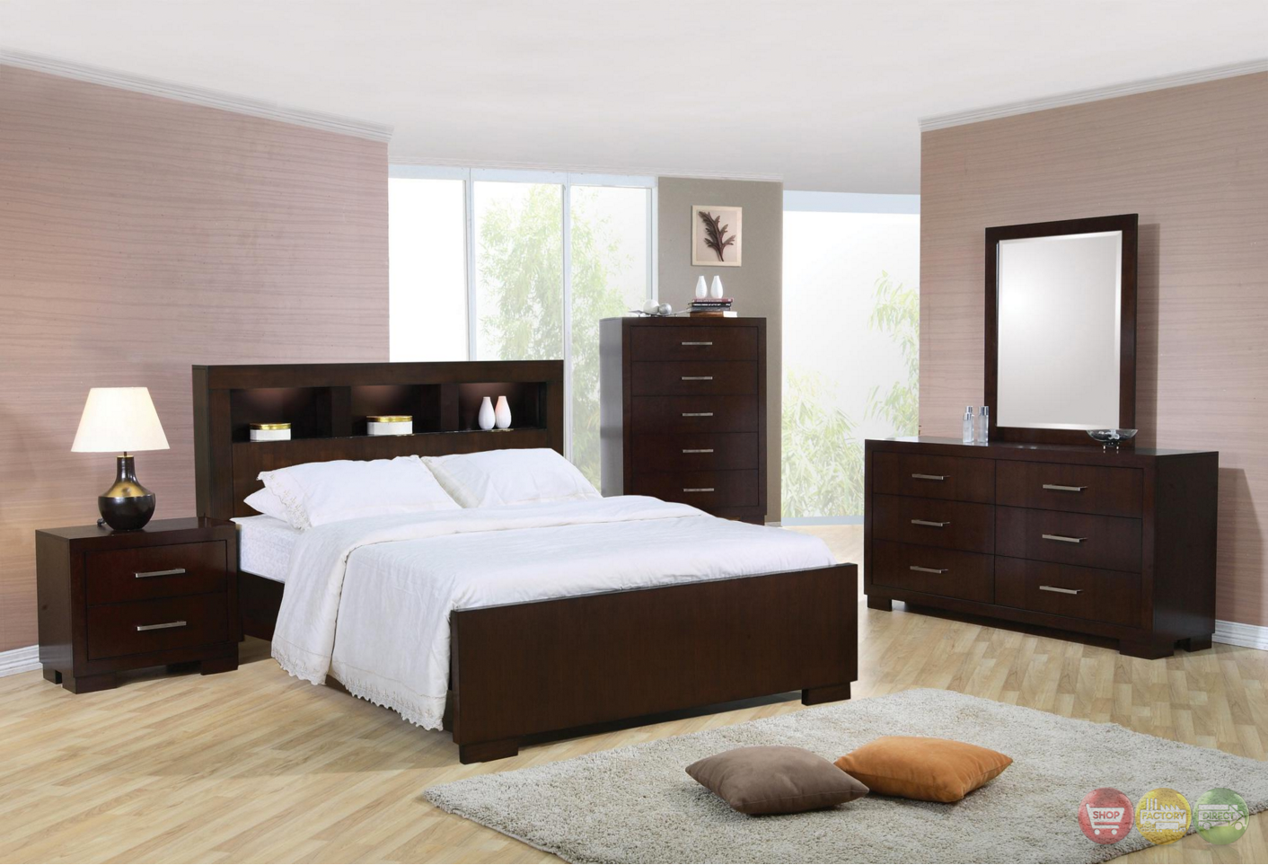 Jessica california king storage bed contemporary bedroom - Contemporary king bedroom furniture ...