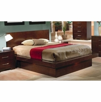 Jessica King Size Wood Platform Bed Mood Lighting Coaster 200711KE