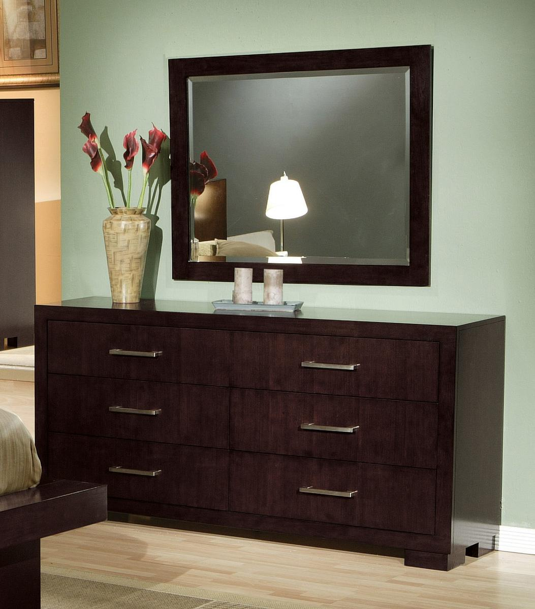 Jessica modern platform cappuccino finish bedroom set free shipping - Jessica bedroom set ...
