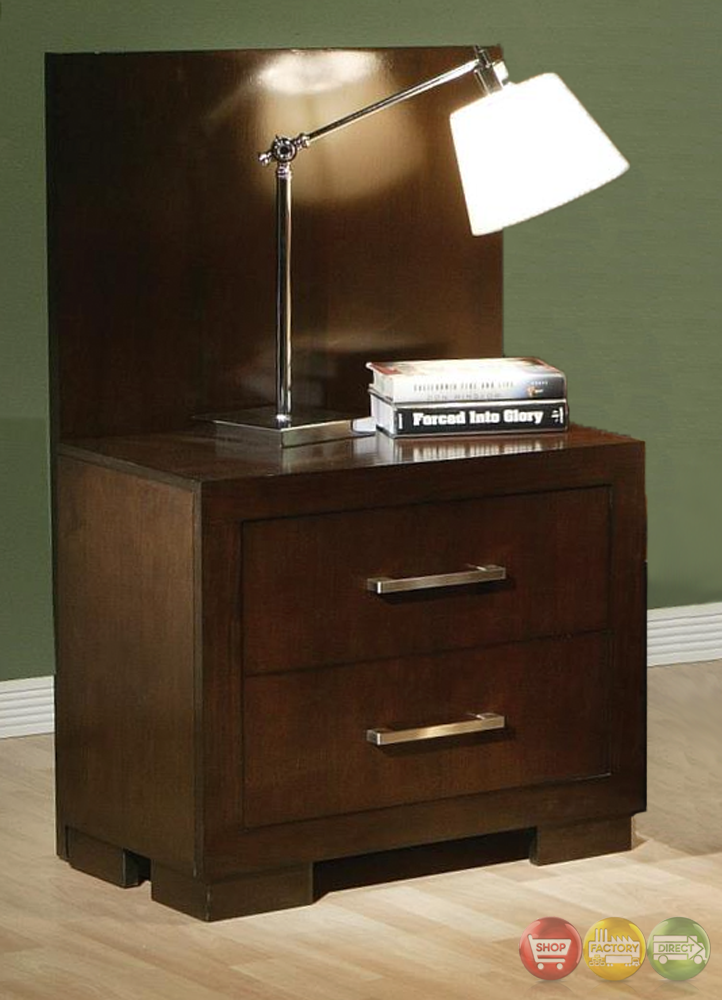 jessica set of two nightstand back panels only nightstands not included 200710. Black Bedroom Furniture Sets. Home Design Ideas