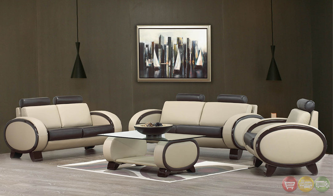Jillian ultra modern living room sets with sinious spring for Ultra modern living room furniture