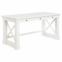 "Johansson Antique White 3-Drawer 60"" Writing Desk"