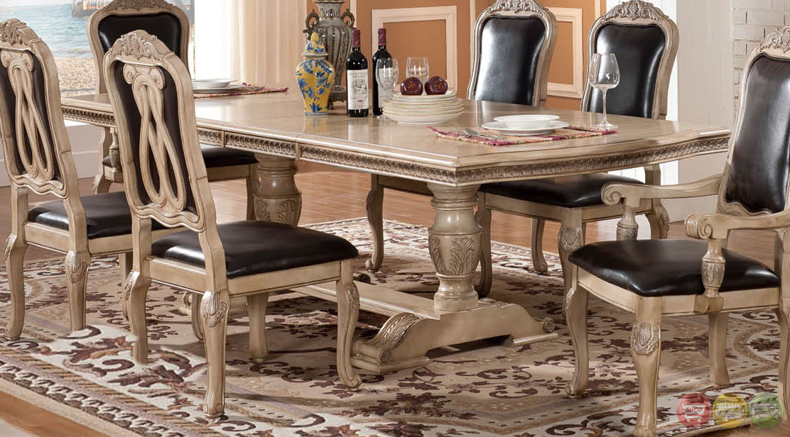 Julius Traditional Light Wood Formal Dining Set With