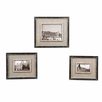 Kalidas Traditional Black Set of  3 Photo Frames 18537