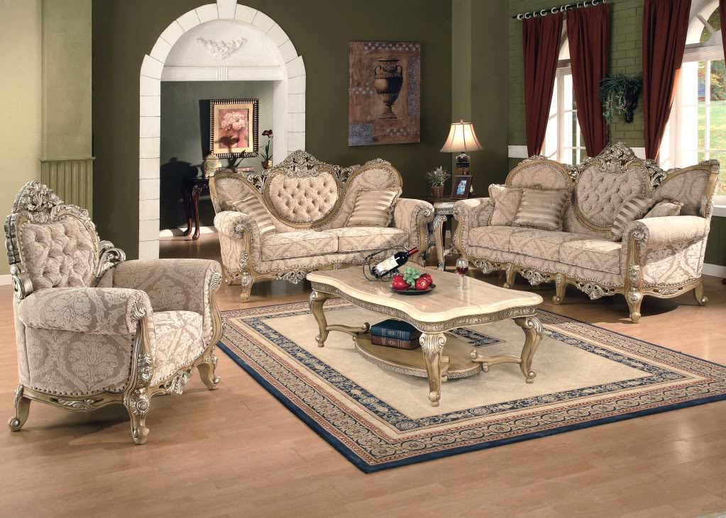 Kalonice luxury victorian formal living room furniture set - Victorian living room set for sale ...