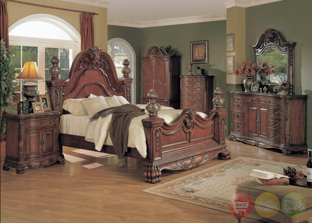 Kelsey luxurious traditional bedroom collection with - Traditional bedroom furniture sets ...
