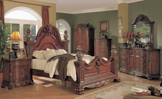 Charming Kelsey Luxurious Traditional Bedroom Collection With Marble Tops Pictures