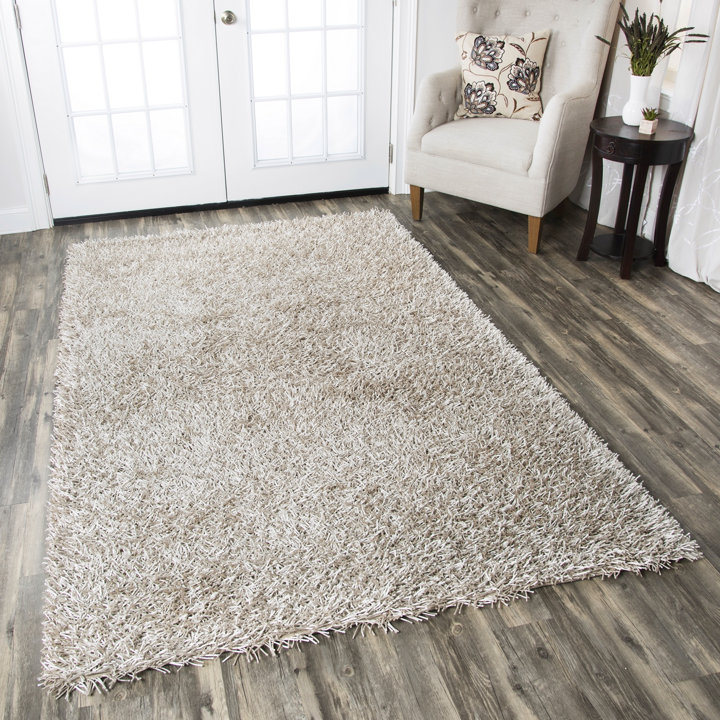 Kempton Ultra Plush Hand Tufted Area Rug In Solid Grey 8