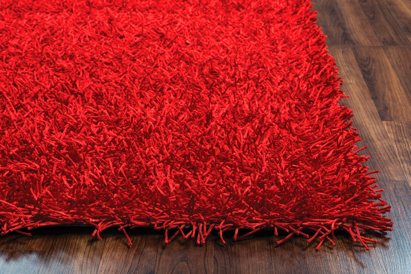 Kempton Ultra Plush Hand Tufted Area Rug In Solid Red 9
