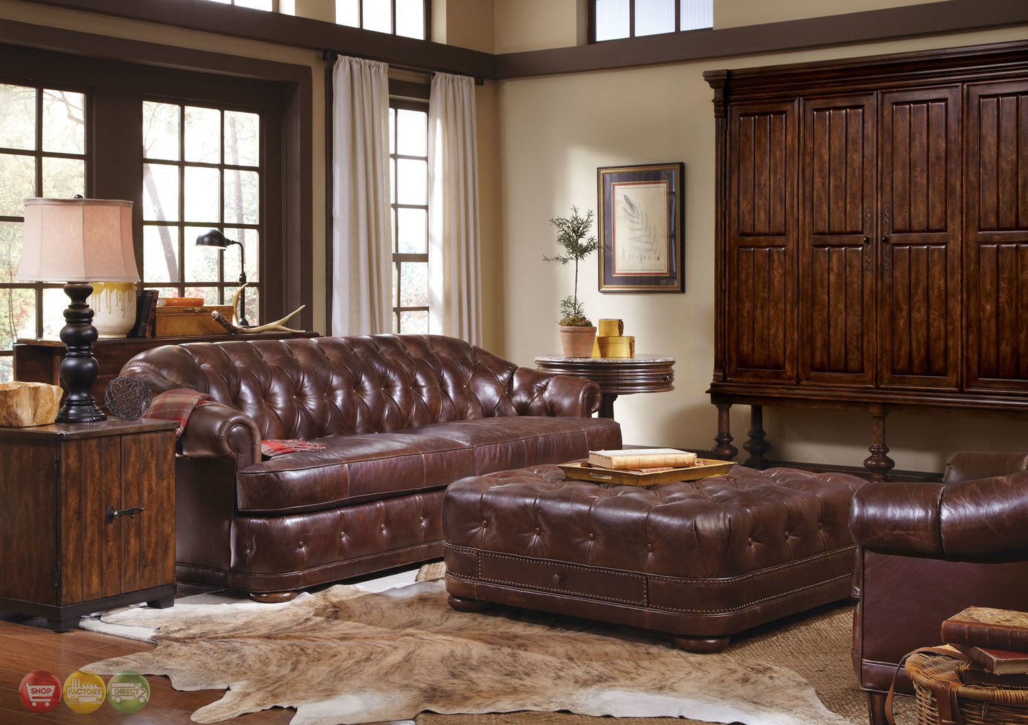 Kennedy Luxury Leather Living Room Furniture Collection