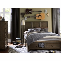 Kenwood Transitional Suede Panel Full Youth Bed