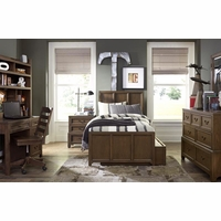 Kenwood Transitional Suede Panel Twin Youth Bed