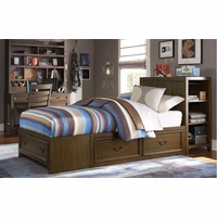 Kenwood Transitional Suede Super Storage Full Youth Bed