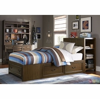 Kenwood Transitional Suede Super Storage Twin Youth Bed