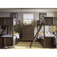Kenwood Transitional Suede Twin Bunk Bed