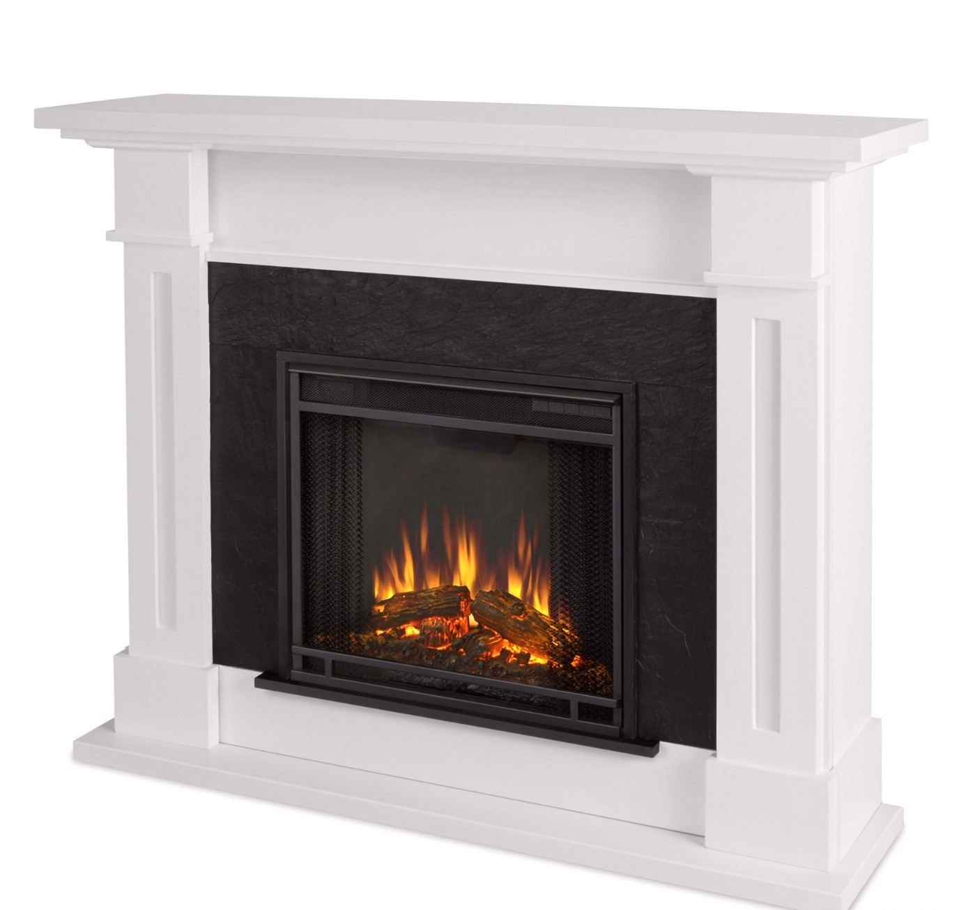 Kipling Electric Heater Led Fireplace In White 4700btu 54x42