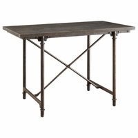 Kirkwood Blue Stone Counter Height Table with Antiqued Bronze Finish