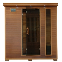 KLONDIKE 4 Person Cedar Infrared Sauna with Carbon Heaters