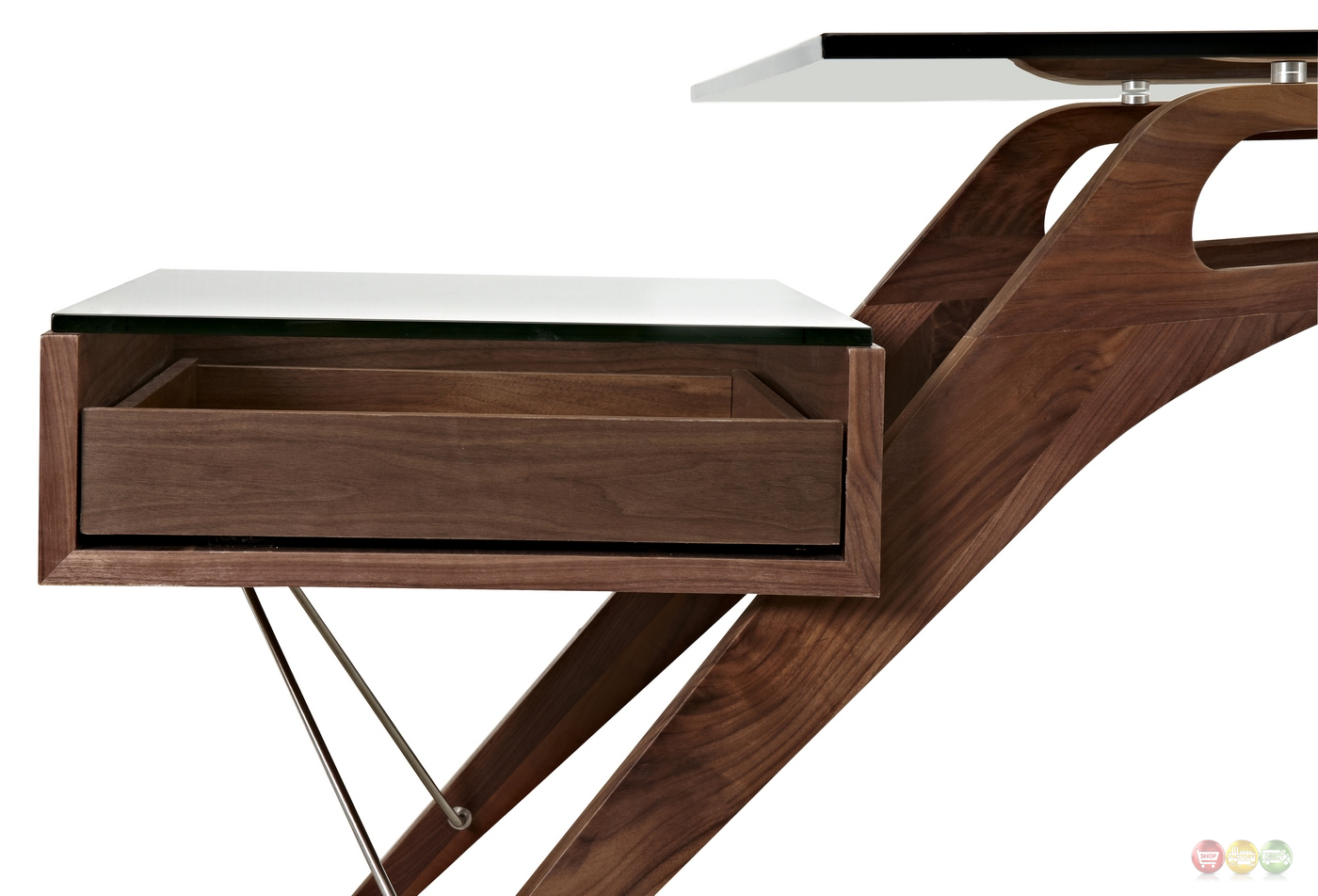 Modern writing desk contemporary wood