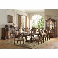 La Roda Formal 5-pc Trestle 76\ -94\  Dining Table Set in Latte Oak Finish  sc 1 st  Shop Factory Direct & Formal Dining Room Sets | Formal Dining Table and Chairs | Free ...