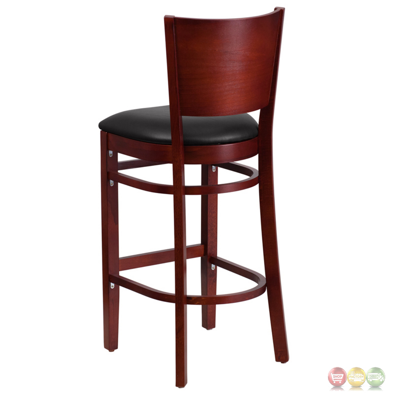 Lacey Series Solid Back Mahogany Wooden Restaurant