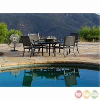 Laguna 6pc Cast aluminum Outdoor Table Set with Sunbrella Fabric - 10810285