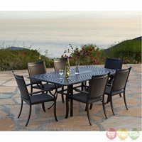 Laguna 7pc Cast aluminum Outdoor Dining Set with Sunbrella Fabric - 10840644