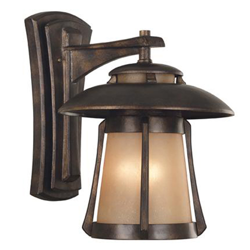 Laguna Large Wall Lantern Golden Bronze Fixture - 03196
