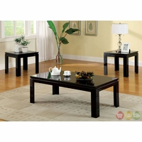 Lamia II Contemporary Black Accent Tables Set CM4176BK