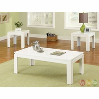 Lamia II Contemporary White Accent Tables Set CM4176WH