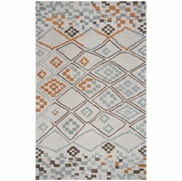 """Rizzy Lancaster Soft Wool Runner Area Rug 2'6""""x 8'Grey Tan Brown/Moroccan Modern"""