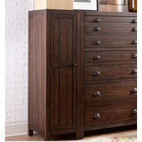 Lanchester Mahogany Left Wardrobe Cabinet With Mirror