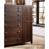 Lanchester Mahogany Right Wardrobe Cabinet With Mirror