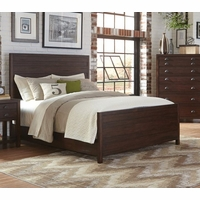 Lanchester Solid Mahogany Queen Panel Bed with Cocoa Acacia Finish