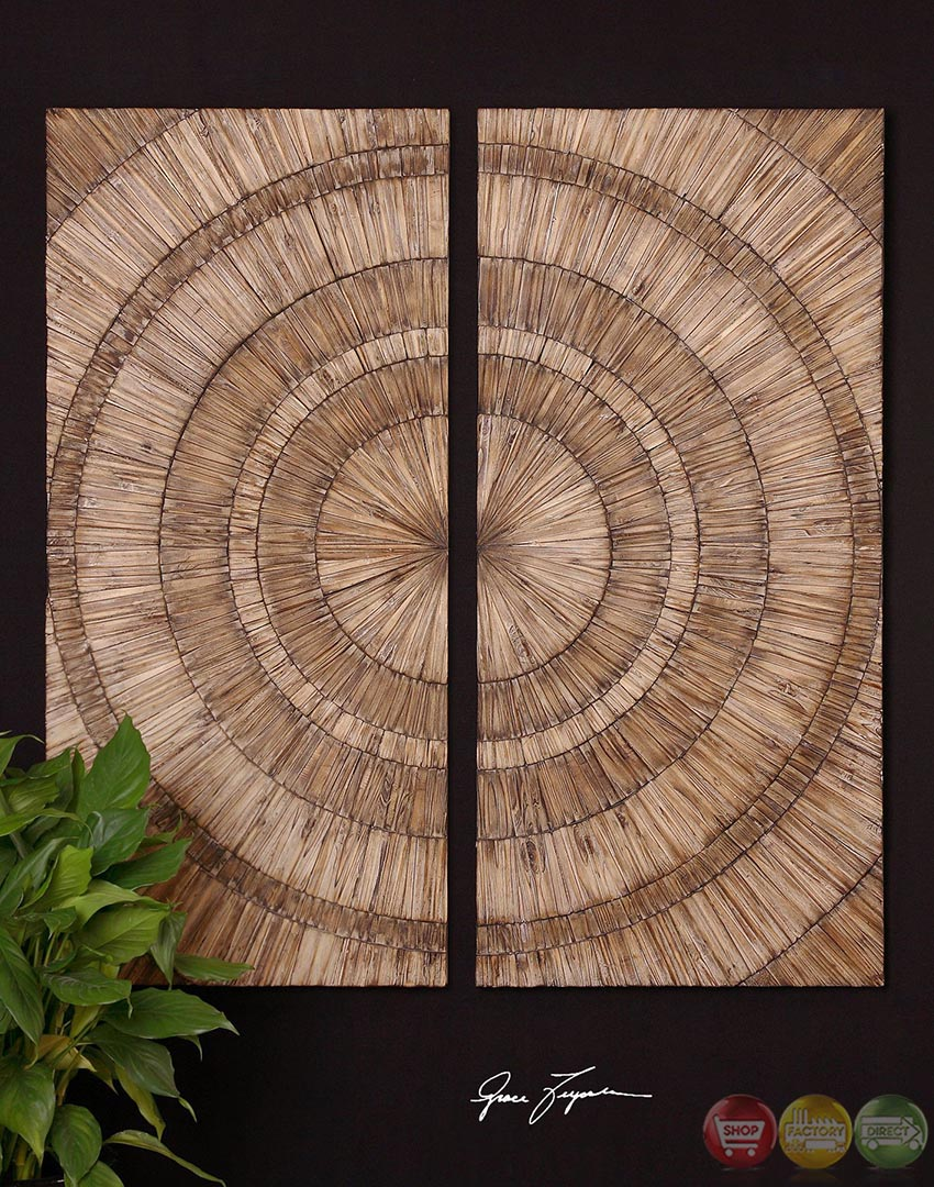 Lanciano Traditional Hand Pieced Natural Wood Chips Wall