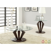 Lancy II Contemporary Dark Walnut Accent Tables Set CM4120