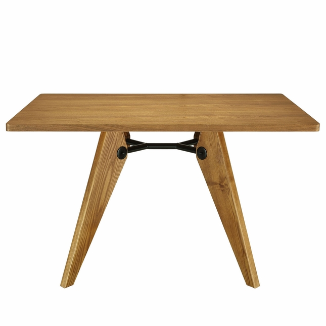 Landing 32 Round Dining Table In Natural Wood Finish W Metal Accents Walnut