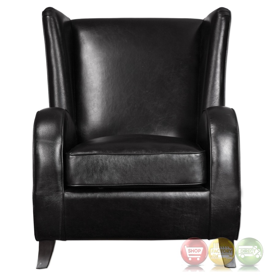 Black Leather Occasional Chair Black Leather Chair