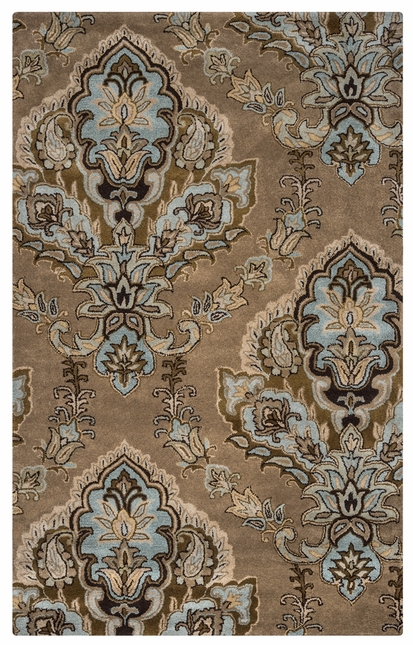 Rizzy Rugs Latte Damask Hand Tufted Area Rug Volare VO1683
